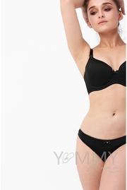 Бюстгальтер для кормления и беременных Angelika на косточках, черный