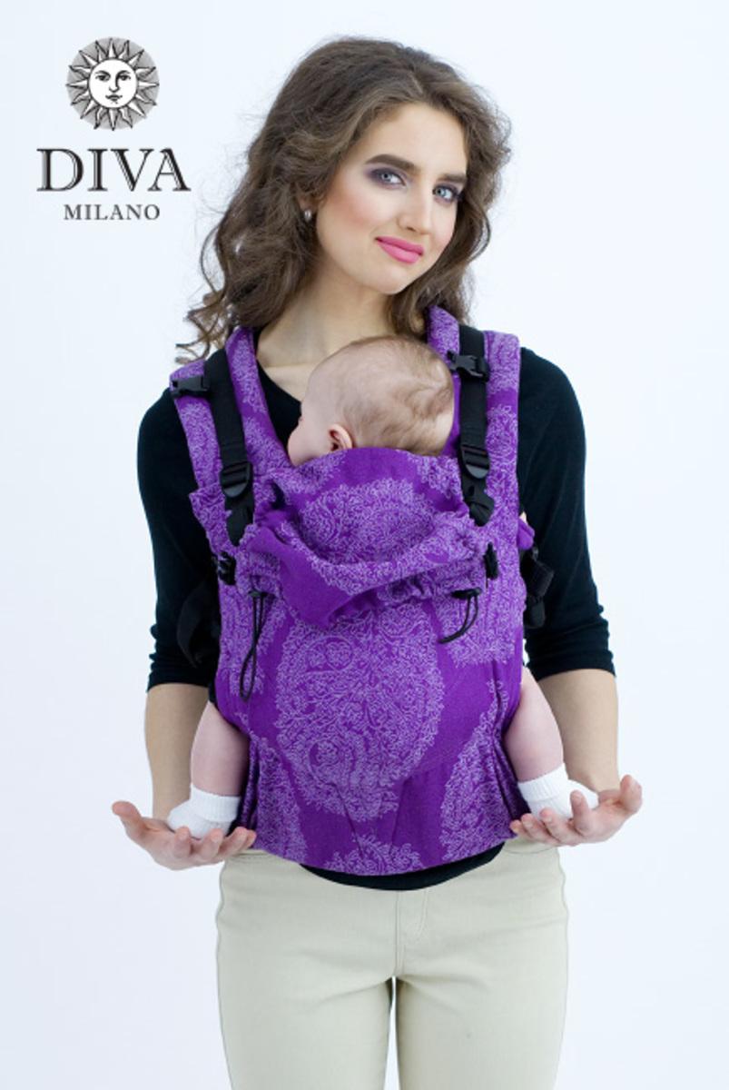 Эрго-рюкзак для новорожденных Diva Essenza Viola One! с бамбуком