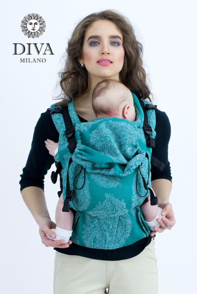 Эрго-рюкзак для новорожденных Diva Essenza Smeraldo Linen One!