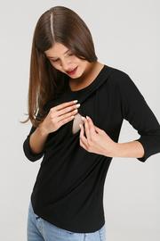 """Блуза для беременных и кормящих """"Платина"""", черный"""