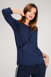 """Блуза для беременных и кормящих """"Платина"""", т.синий"""