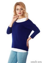 """Блуза для беременных и кормящих """"Адель"""", эклипс/белый, дл.рукав"""