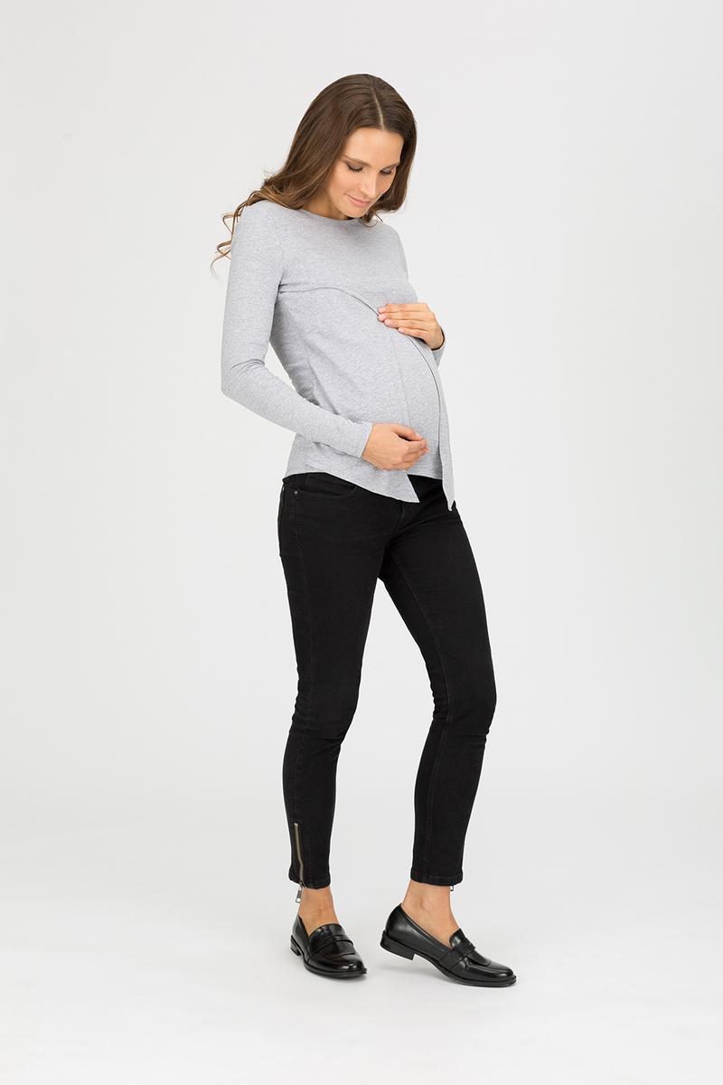 """Блуза для беременных и кормящих """"Сказка"""", серый меланж"""