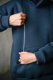 Худи-толстовка для беременных и кормящих MAKOSH (цвет антрацит)