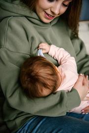 Худи-толстовка для беременных и кормящих MAKOSH (цвет олива)