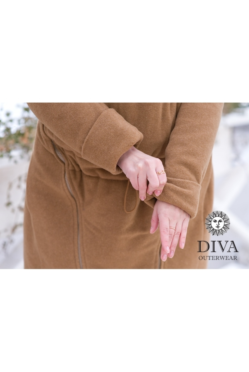 Слингопальто демисезонное Diva Outerwear Camello (без вставки для беременных)