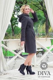 Слингопальто демисезонное Diva Outerwear Antracite (без вставки для беременных)
