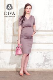 Платье для кормящих и беременных Diva Nursingwear Lucia кор.рукав, Cacao