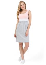 """Платье для беременных и кормящих """"Триколор"""", пудровый"""