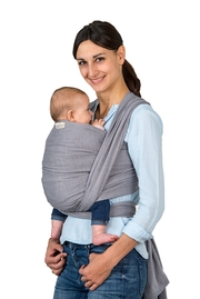 Слинг-шарф Amazonas (двойное диагональное плетение), Grey