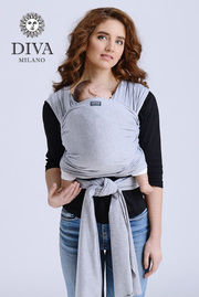 Трикотажный слинг-шарф Diva Stretchy, Nebbia