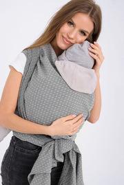Слинг-шарф алмазного плетения YM, жемчужный