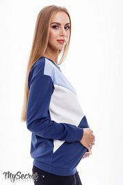 Свитшот для беременных и кормящих Cat, сине-голубой