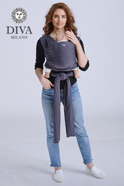Трикотажный слинг-шарф Diva Stretchy, Grafite