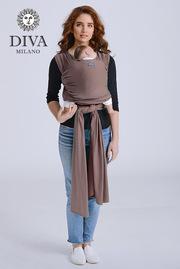 Трикотажный слинг-шарф для новорожденного Diva Stretchy, Moka