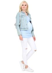 Майка для беременных и кормящих Нина, голубой