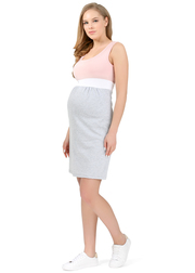 Платье для беременных и кормящих Триколор, пудровый