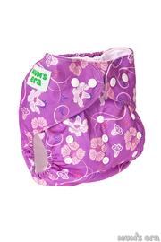 Многоразовый подгузник Клематис, фиолетовый со вкладышем