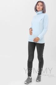 Толстовка для беременных и кормящих, св. голубая (202.2.107)
