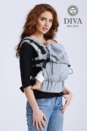Эрго-рюкзак с рождения Diva Basico Argento Simple One!