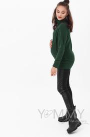 Толстовка для беременных и кормящих, изумруд (202.2.108)