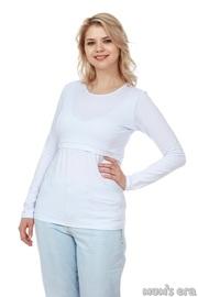 Лонгслив для беременных и кормящихBasic, белый
