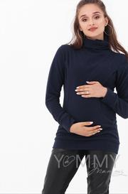 Толстовка для беременных и кормящих, т.синяя (202.2.110)