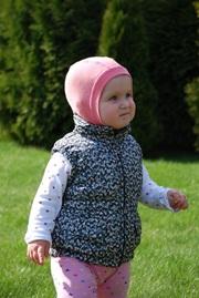 Шлем детский, трикотаж, Розовый