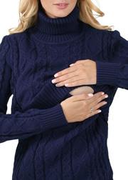 Джемпер для беременных и кормящих Миранда, синий