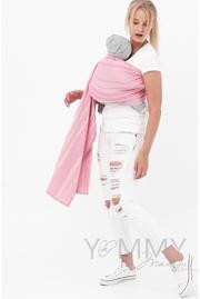 Слинг с кольцами YM, розовый/белый