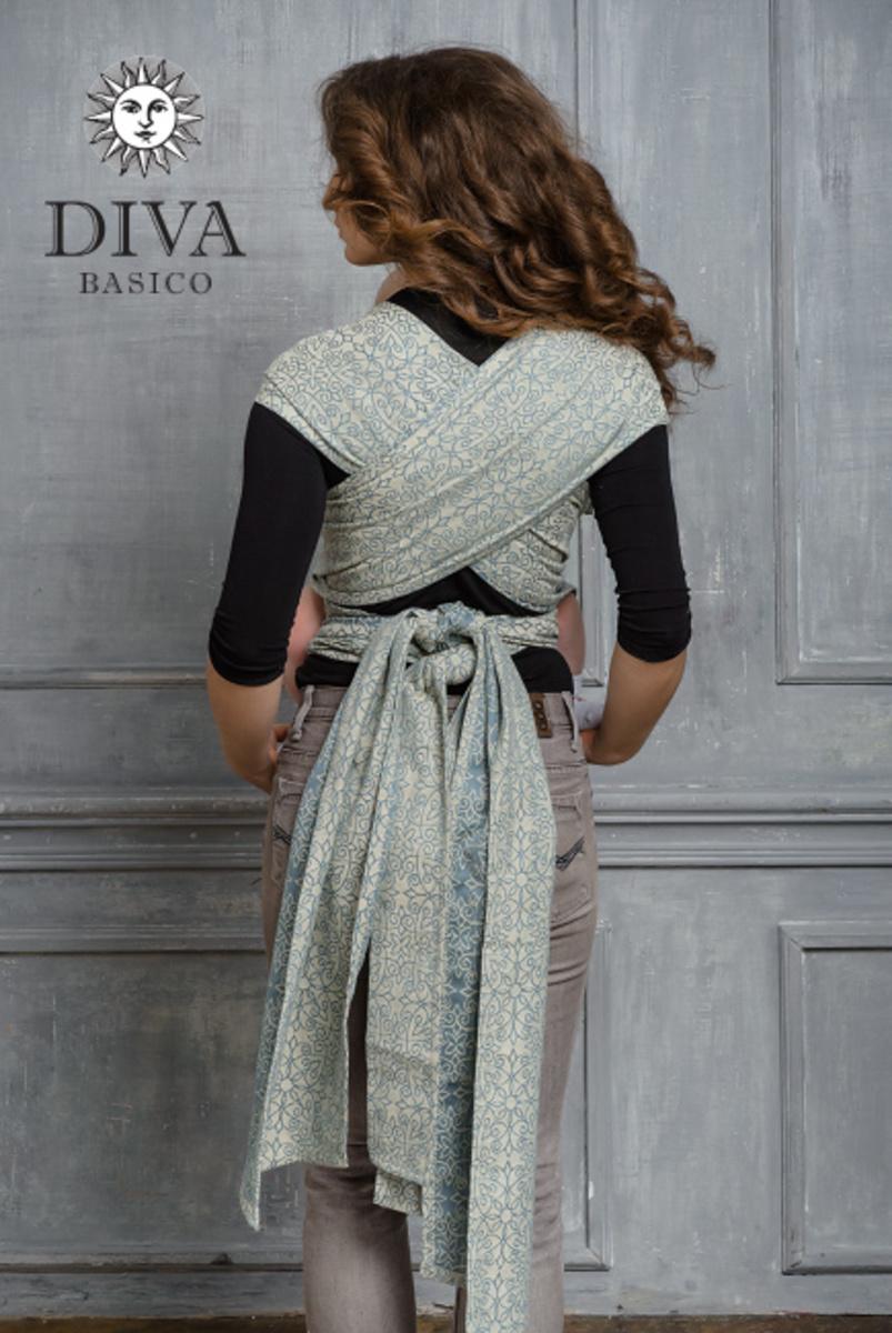 Май-слинг Diva Basico, Argento с капюшоном