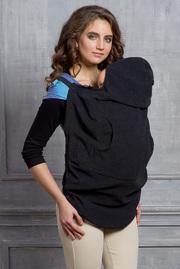Слингонакидка из шерсти Diva Outerwear Nero