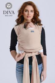 Трикотажный слинг-шарф для новорожденного Diva Stretchy, Beige