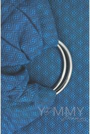 Слинг с кольцами YM, синий/серый