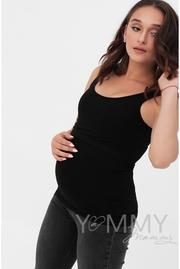 Майка для беременных и кормящих, черная