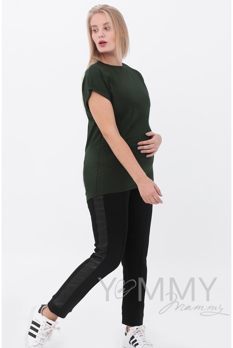 Футболка для беременных и кормящих, милитари