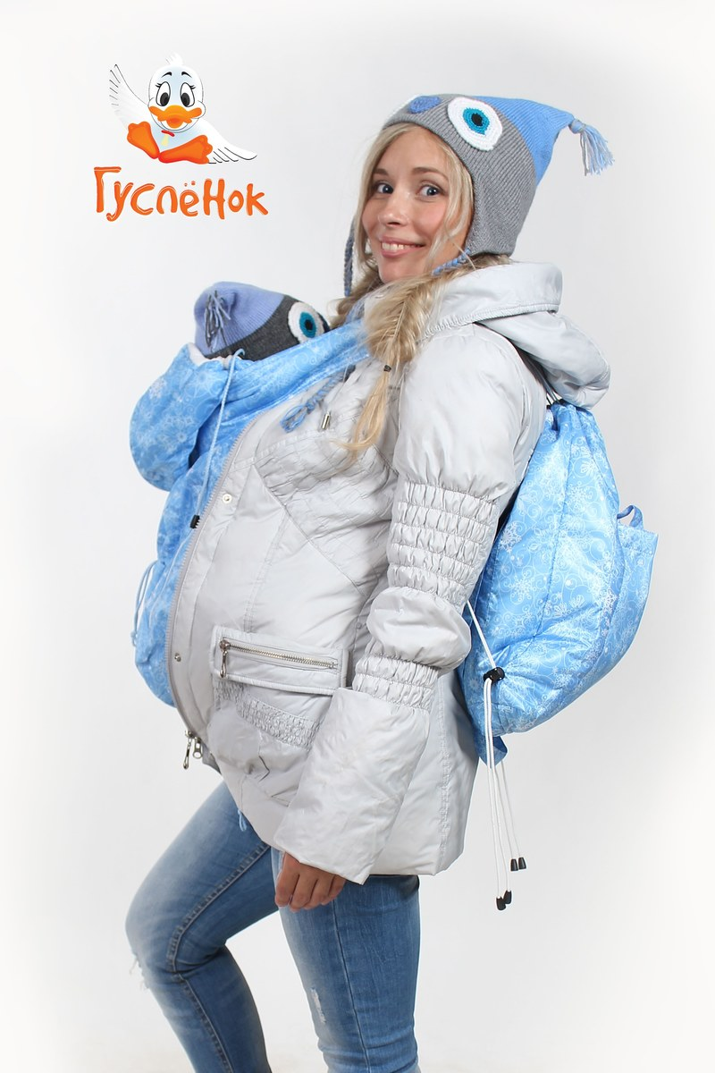 "Слинговставка - Снежинки ""Лед"" 90 см"