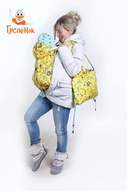 Слинговставка - Цветы на желтом 90 см